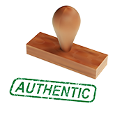 authentic rubber stamp