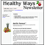 Healthy Ways Newsletter Sample